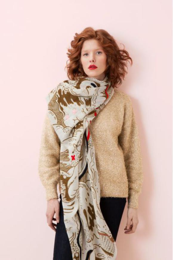 Carissima Leuven Winter 2019 Sjaal Ma Poesie The Thing Khaki Scarf