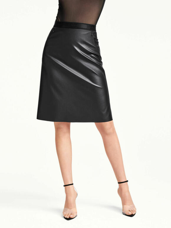 Carissima Leuven Wolford Rok Eco Leather 52711 7005 100 001 B M B2 Bl